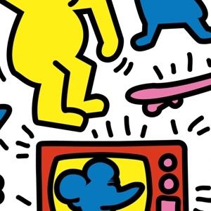zoom t-shirt Keith Haring et les Simpsons geek original