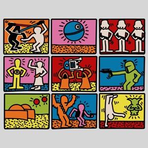 dessin t-shirt Parodie Keith Haring geek original