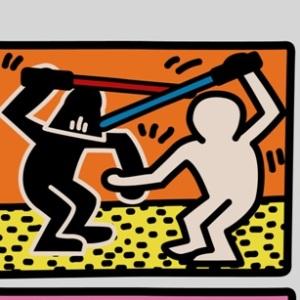 zoom t-shirt Parodie Keith Haring geek original