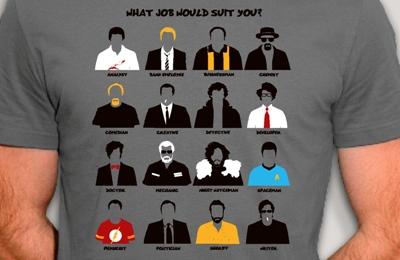 t-shirt séries TV cultes