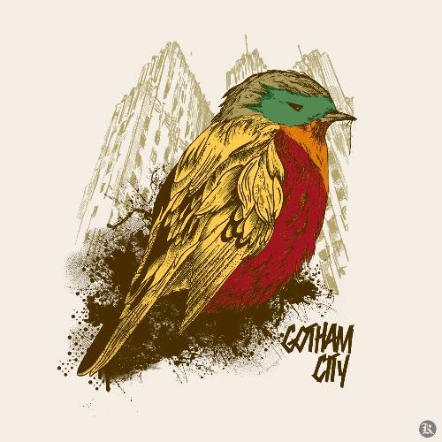 dessin t-shirt Batman et Robin geek original