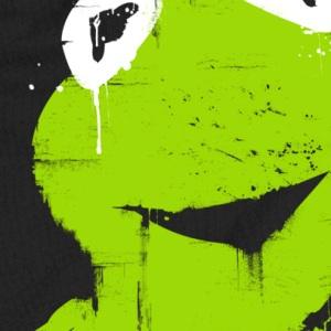 zoom t-shirt Kermit la grenouille geek original