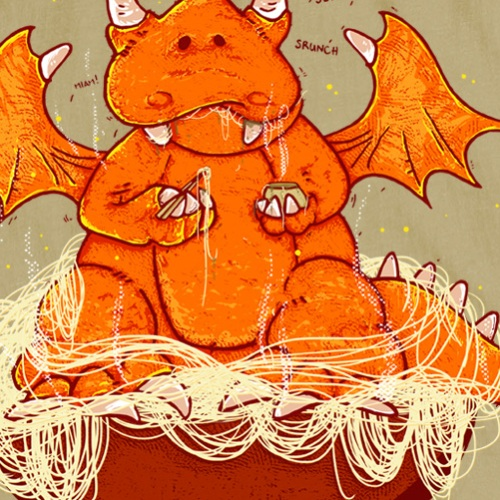 zoom t-shirt Petit dragon geek original