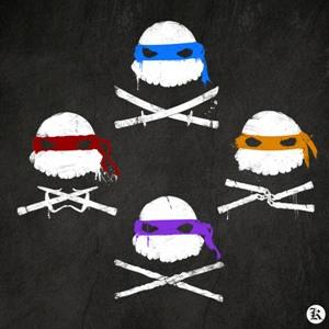 dessin t-shirt Tortues ninjas graph geek original