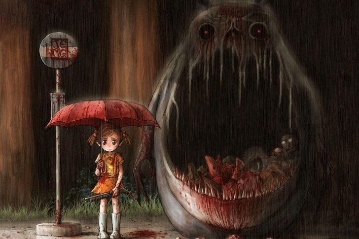 my-neighbor-totoro-monster-girl-gun-rain-umbrella-anime-anime-and-fantasy-485x728