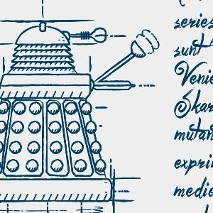 zoom t-shirt Tardis, Daleks et autres… geek original