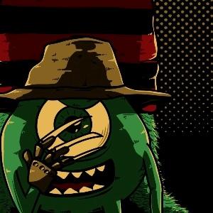 zoom t-shirt Monstres Academy & Freddy Krueger geek original