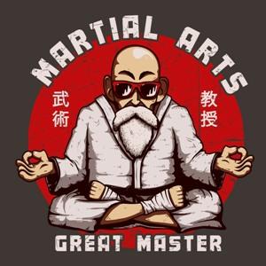 dessin t-shirt Maître des arts martiaux geek original