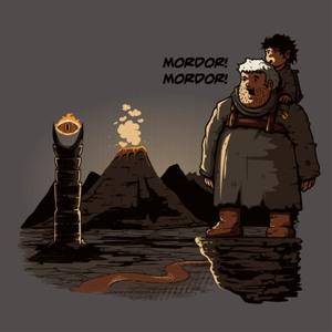 dessin t-shirt Hodor Mordor geek original