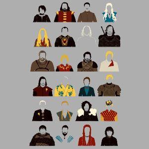 dessin t-shirt Le trône de fer – fan art geek original