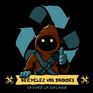 dessin t-shirt Un jawa peut recycler vos robots geek original