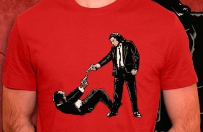 t-shirt Pulp Fiction et Reservoir Dogs