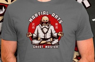 t-shirt Tortue Géniale et les arts martiaux