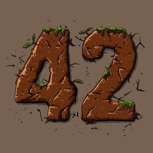 dessin t-shirt 42, le sens de la vie. geek original
