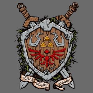 dessin t-shirt Bouclier de Link geek original