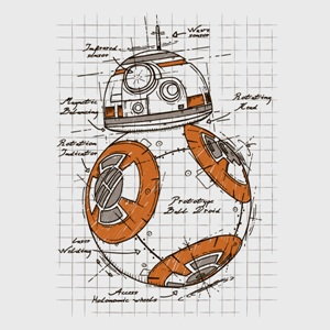 dessin t-shirt BB8 le nouveau robot de Star Wars geek original