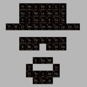 dessin t-shirt Tableau périodique geek original
