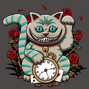 dessin t-shirt Cheshire maneki geek original