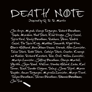 dessin t-shirt La mort et le trône de fer geek original