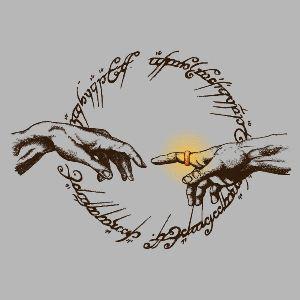 dessin t-shirt L'anneau de Tolkien geek original