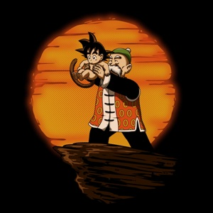 dessin t-shirt Grand père Songoku geek original