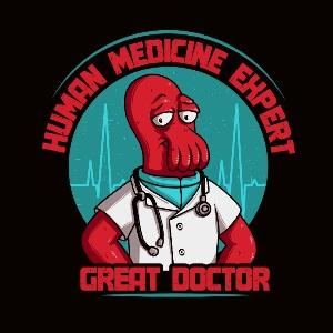 dessin t-shirt Docteur Zoidberg geek original
