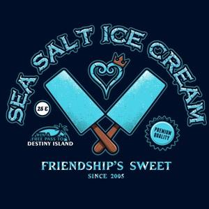 dessin t-shirt Glace d'eau de mer salée geek original