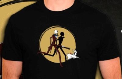 Jack Skellington sur t-shirt