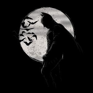 Dessin batman t shirt chauve souris lune art deprime - Dessins de batman ...