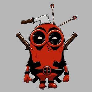 dessin t-shirt Deadpool minion geek original