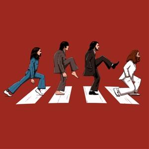 dessin t-shirt Monty Python & Beatles geek original