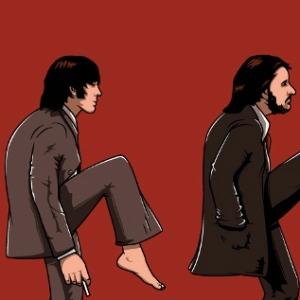 zoom t-shirt Monty Python & Beatles geek original