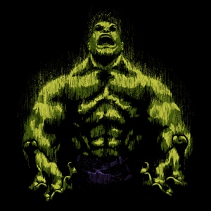 dessin t-shirt La colère de Hulk geek original
