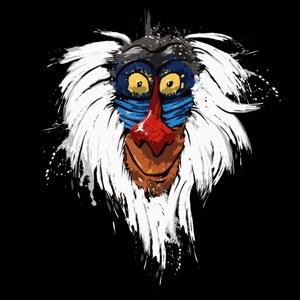 dessin t-shirt Singe et Roi Lion geek original