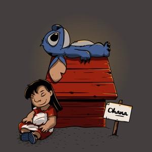 dessin t-shirt Lilo et Stitch Peanuts geek original