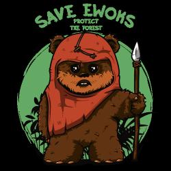 t-shirt Ewok sauvez les Ewoks