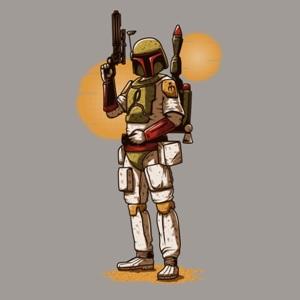 dessin t-shirt Boba Fett geek original