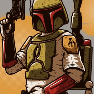zoom t-shirt Boba Fett geek original