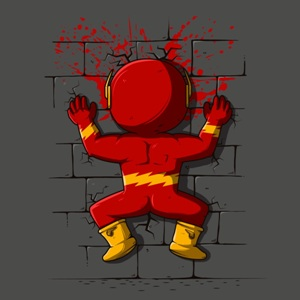 dessin t-shirt Flash crash geek original