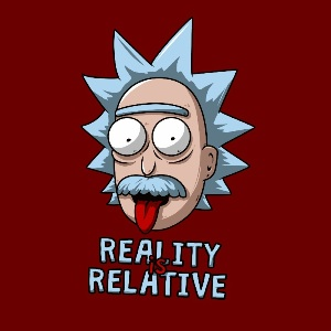 dessin t-shirt Rick Sanchez – Einstein geek original
