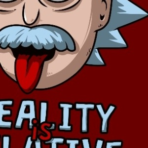 zoom t-shirt Rick Sanchez – Einstein geek original