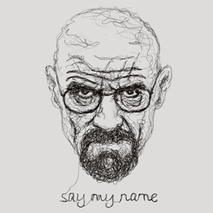 dessin t-shirt Walter White geek original