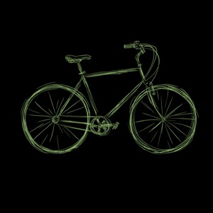 dessin t-shirt Bicyclette geek original