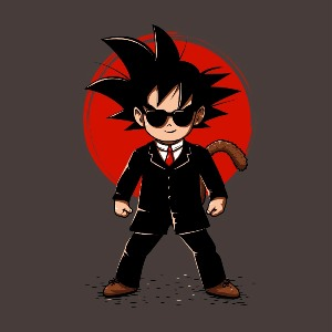 dessin t-shirt Son Goku MIB geek original