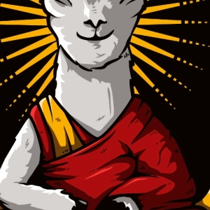 zoom t-shirt Dalaï Lama geek original