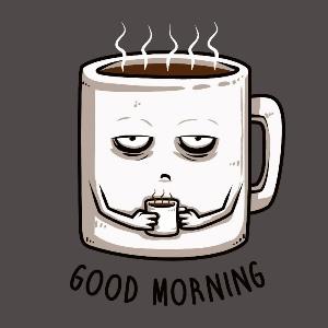 dessin t-shirt Café du matin geek original