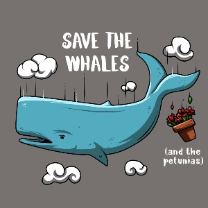 dessin t-shirt Sauvez les baleines geek original