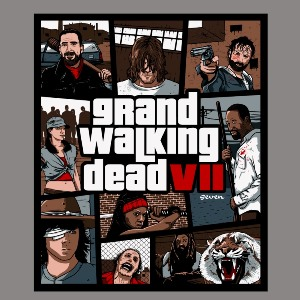 dessin t-shirt Grand Walking Dead 7 geek original