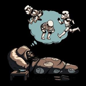 dessin t-shirt Dark Vador sommeil geek original