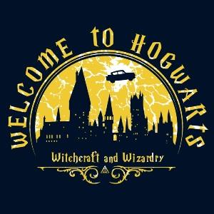 dessin t-shirt Bienvenue à Poudlard geek original